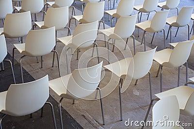 White chairs Stock Photo