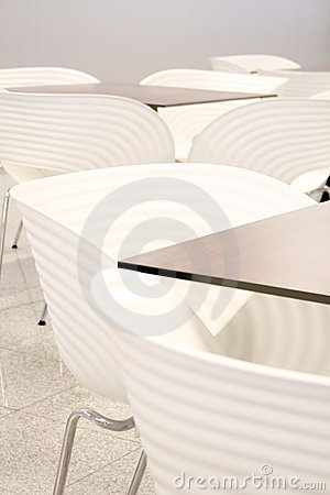 White chairs with tables