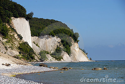 White chalk cliffs on rügen