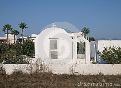 White chapel in Kos Island