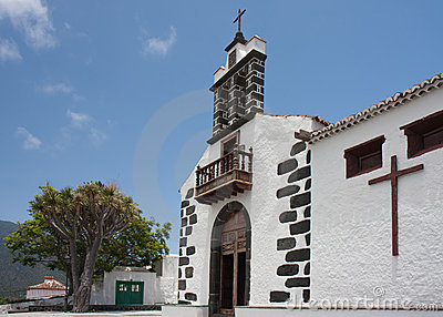 White chapel at La Palma, Canary Islands