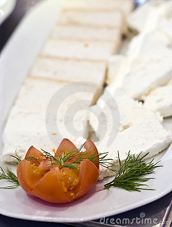 White cheese plate
