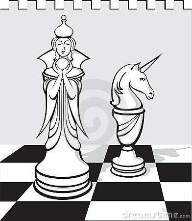 The white chess