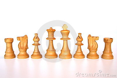White chess army