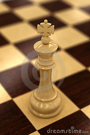 White chess king