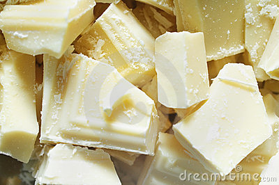White chocolate pieces