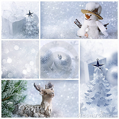 Free White Christmas Collage Stock Photo - 20963510