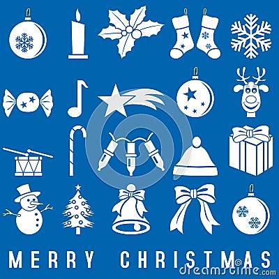 Free White Christmas Icons Royalty Free Stock Photo - 11285835