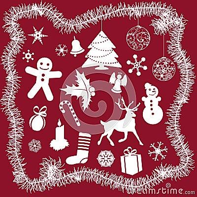 White Christmas Icons