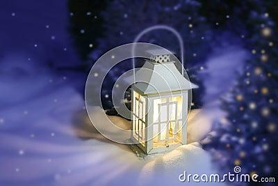 White Christmas lantern
