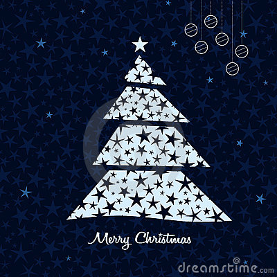 White Christmas tree background. Vector.