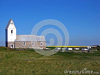 White Church in Denmark, Europe