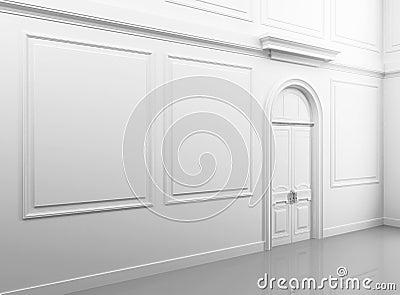 White classical empty interior