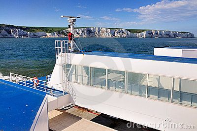 White Cliffs of Dover from a Ferry