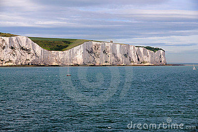 White Cliffs of Dover from Sea