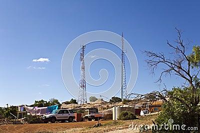 White Cliffs Opal Town Stock Photo