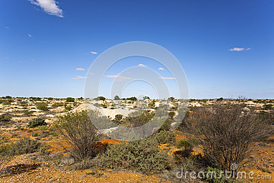 White Cliffs Opal Town Stock Photo