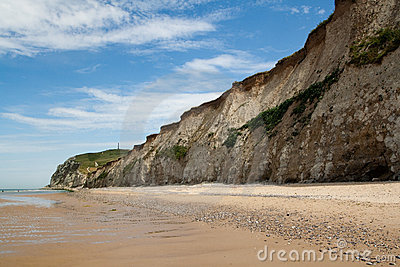 White cliffs on sea shore