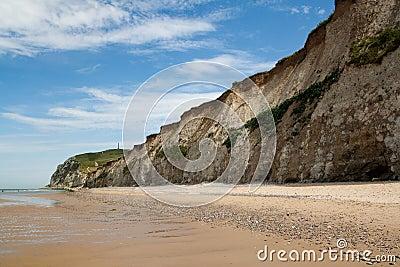 White cliffs on sea shore