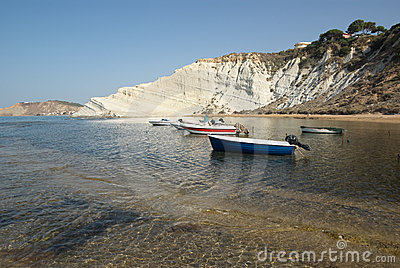 White Cliffs Of A Sicilian Bay