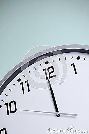 White clock before midnight