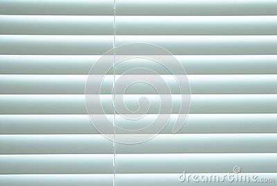 White closed blinds.