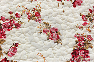 White cloth with pattern of flowers