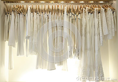 White clothes in Shop