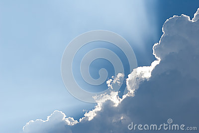 White Clouds On Blue Sky. Stock Photography - Image: 25273462
