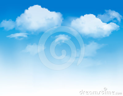 White clouds in a blue sky. Sky background.