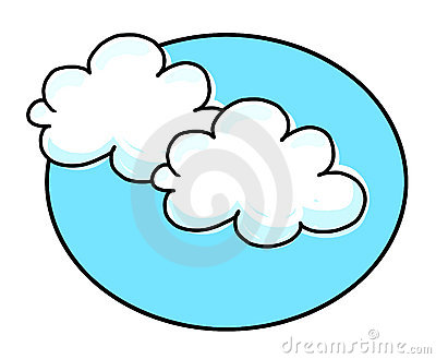 White clouds illustration