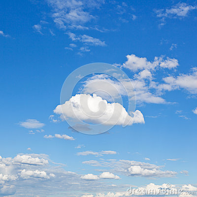 Free White Clouds In Blue Sky In Summer Day Stock Photos - 33151823