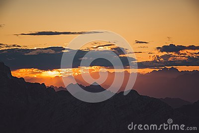 White Clouds And Mountains During Sunset Free Public Domain Cc0 Image