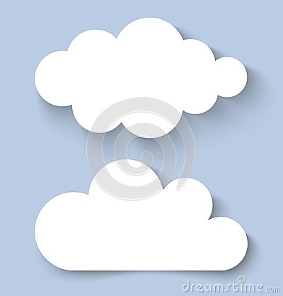 White Clouds Paper Banners