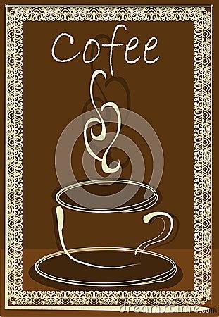White coffe cup