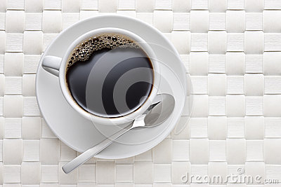 White Coffee Cup Background