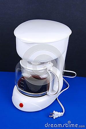 A white coffee maker.