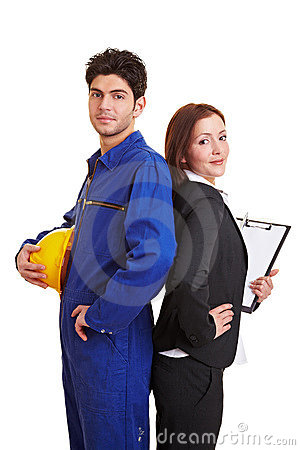 Royalty Free Stock Photos: White collar and BLUE COLLAR WORKER
