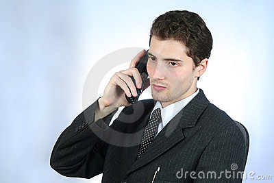 White-collar worker phone