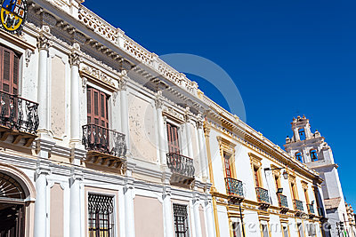 White Colonial Buildings