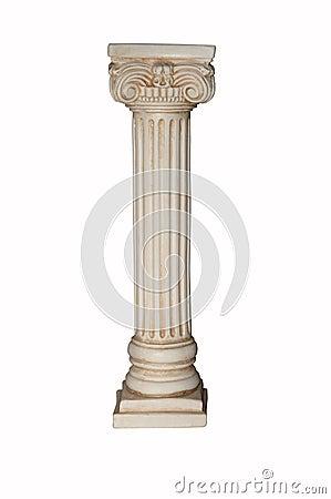Free White Column Royalty Free Stock Image - 12572386