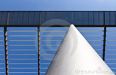 White column and roof made of steel
