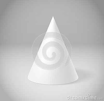 White cone on grey