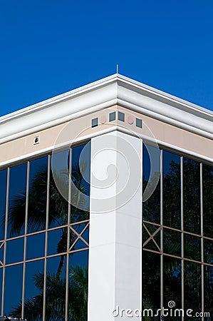 White corner of building