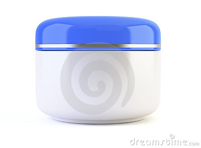 White cosmetic container