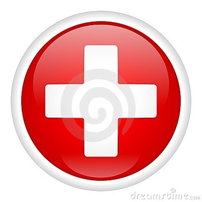White Cross On Button