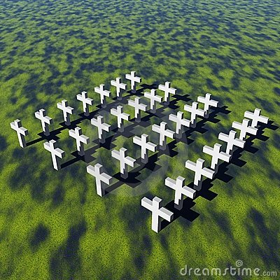 White crosses