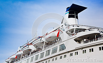 White cruise liner