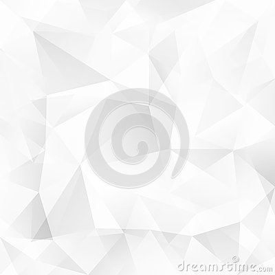 Free White Crystal Triangles Vector Abstract Background Royalty Free Stock Image - 43783686