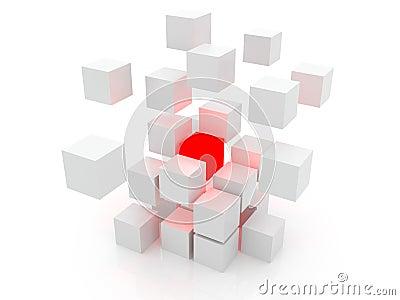 White cube 3D